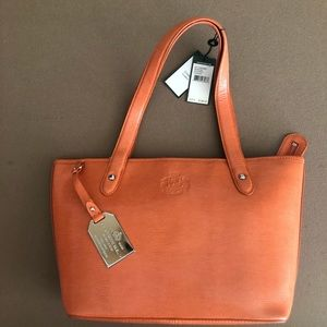Ralph Lauren Newton Shopper Tote - Orange - NWT